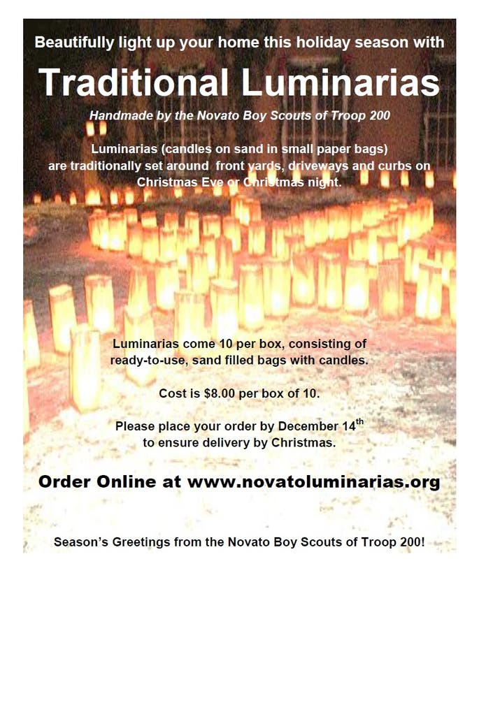 Holiday Luminaria Fundraiser Underway For Boy Scouts Of