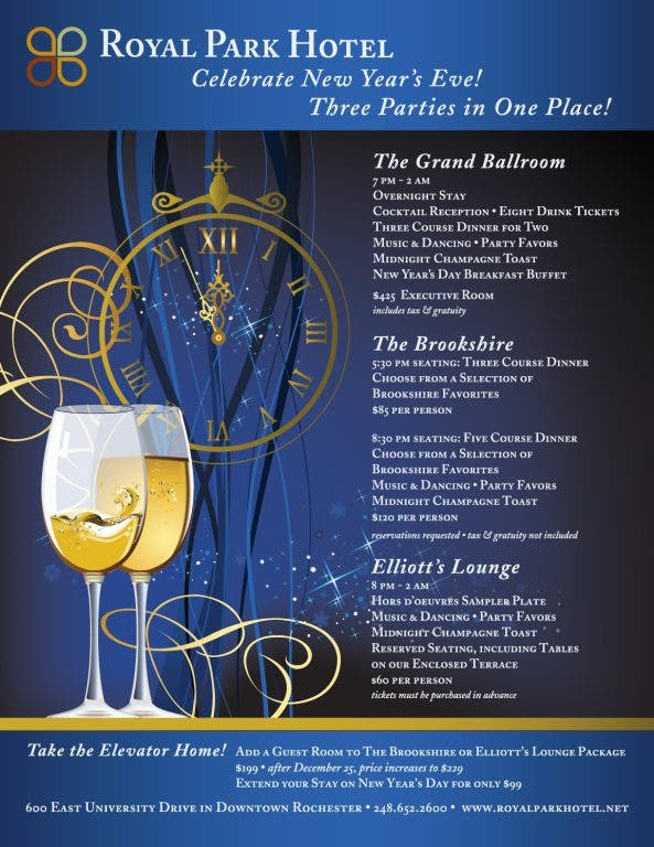 Celebrate New Year S Eve At Royal Park Hotel Rochester Mi Patch