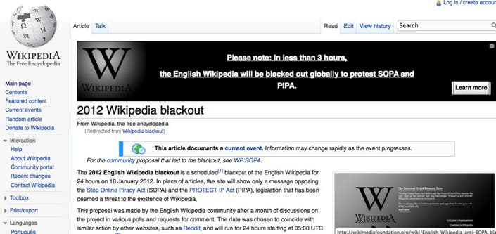 Wednesday Wikipedia Blackout Planned | Encino, CA Patch