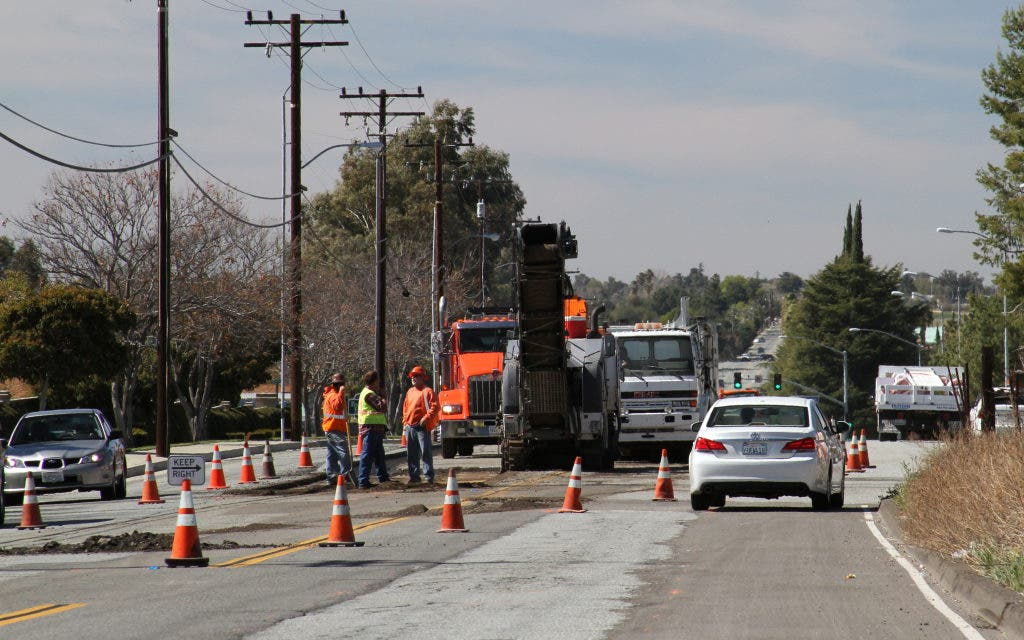Repaving Project on Wilson Street Under Way in Banning: 'Expect