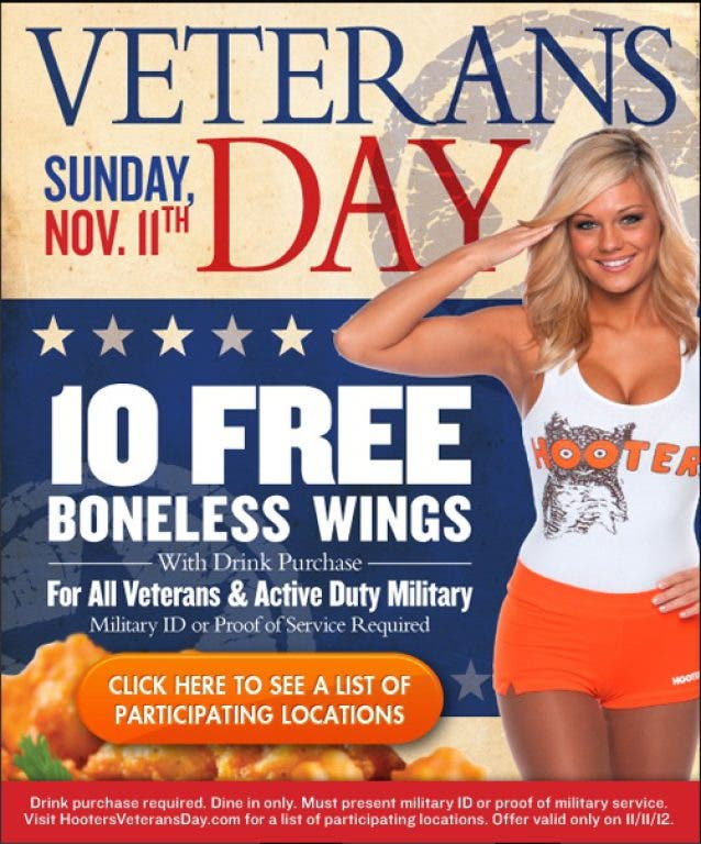 More Veterans Day Free Meals And Deals Near Redlands And Loma Linda Redlands Ca Patch