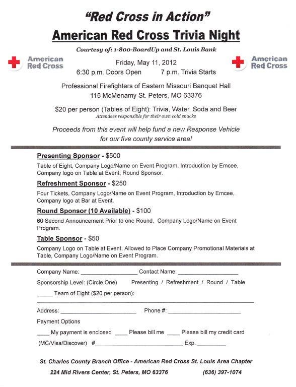 American Red Cross Trivia Night | St  Peters, MO Patch