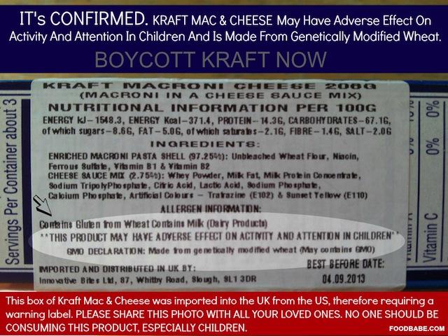 ILLEGAL GMO Wheat in Kraft Mac N Cheese?? | Foster City, CA