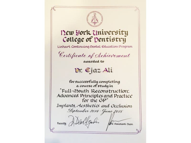 Congratulations To Dr Ejaz Ali For Completing Nyus Course In Full