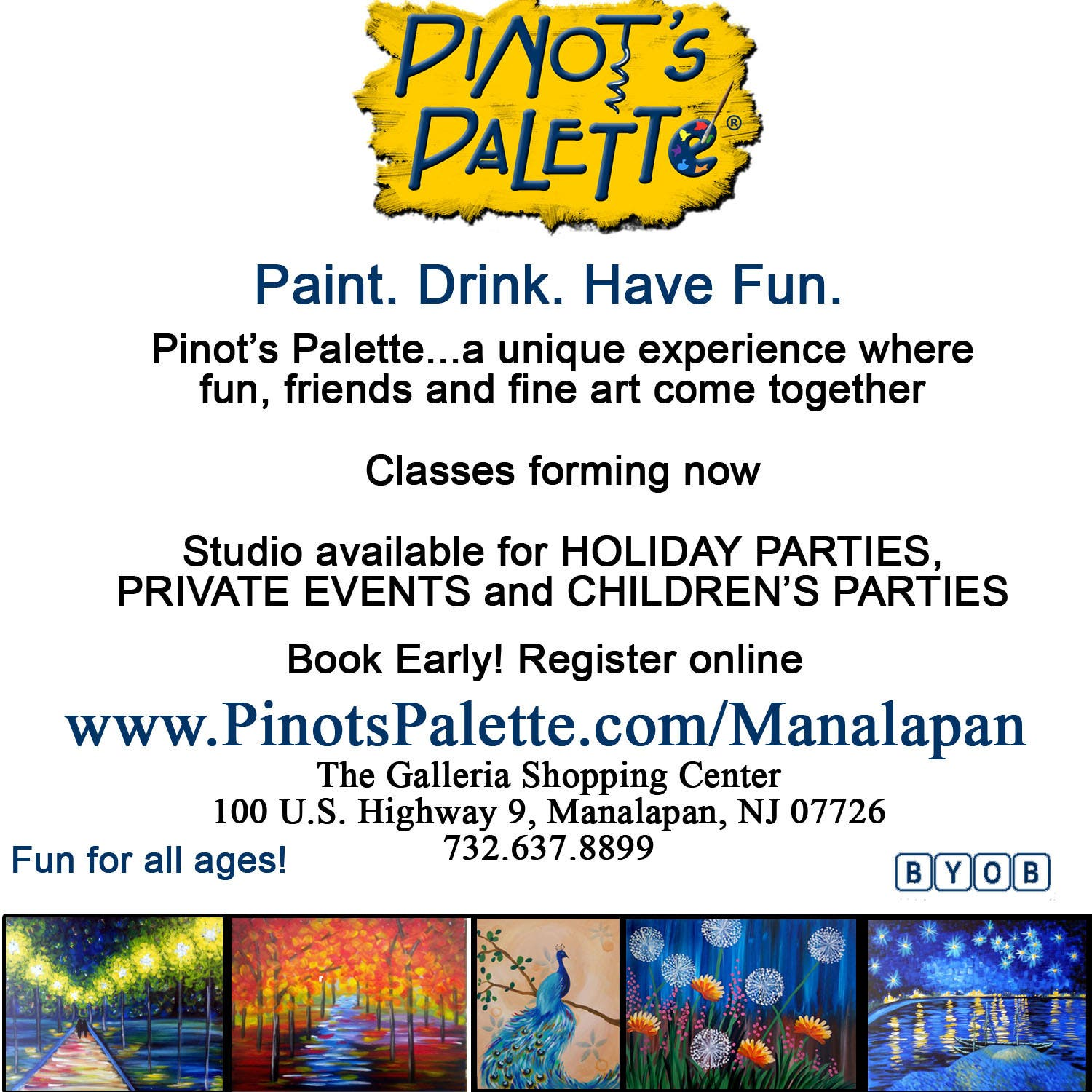 The First Pinot's Palette Franchise In Monmouth County Will