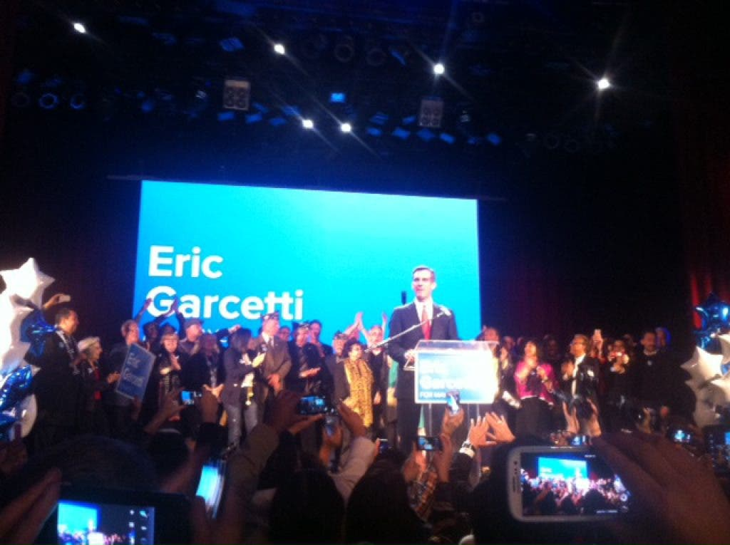 VIDEO: Eric Garcetti's Election Night Speech | Echo Park, CA Patch