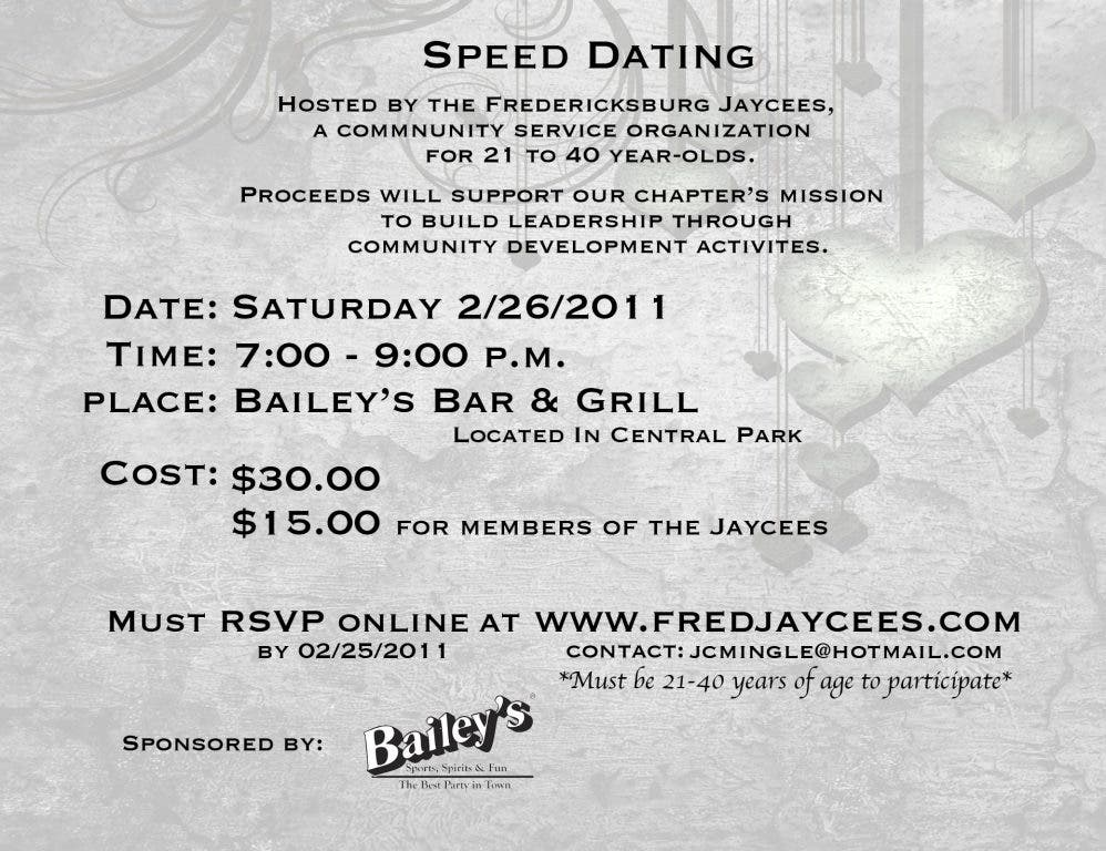 Speed Dating Fredericksburg VA