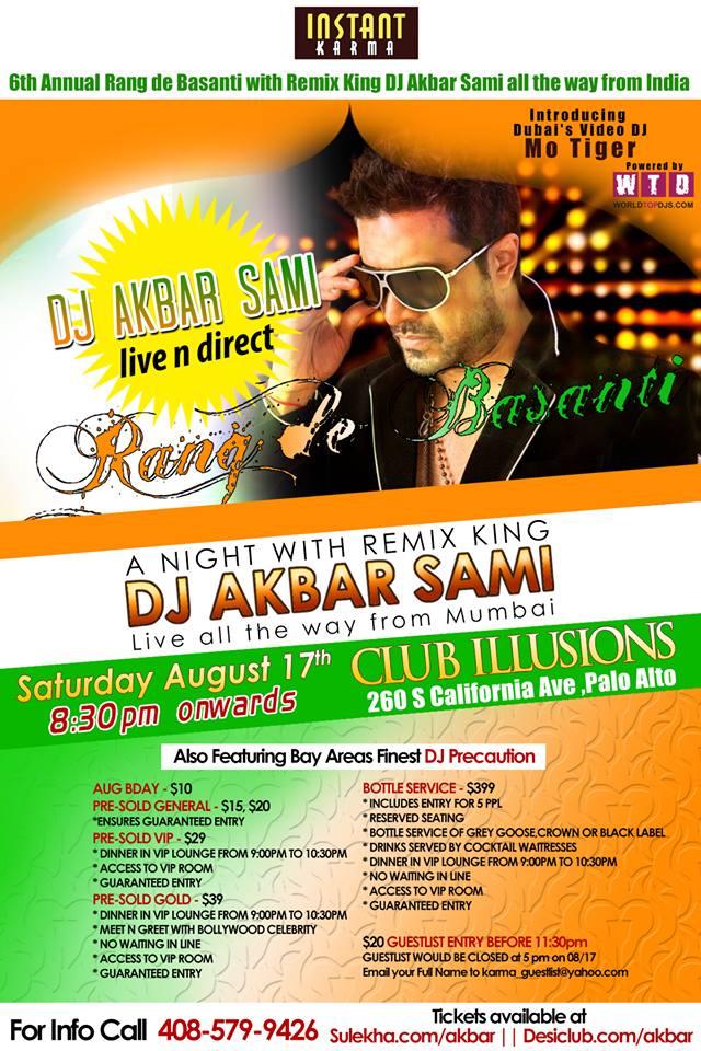Rang de Basanti Featuring Remix King DJ Akbar Sami along with Video