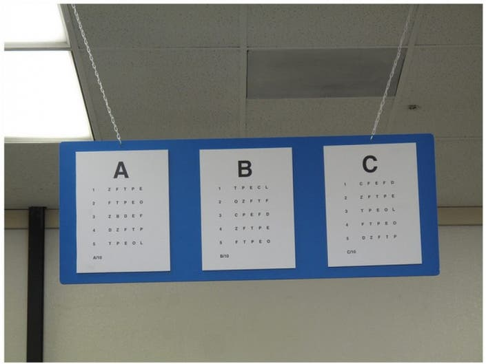 drivers license vision test requirement