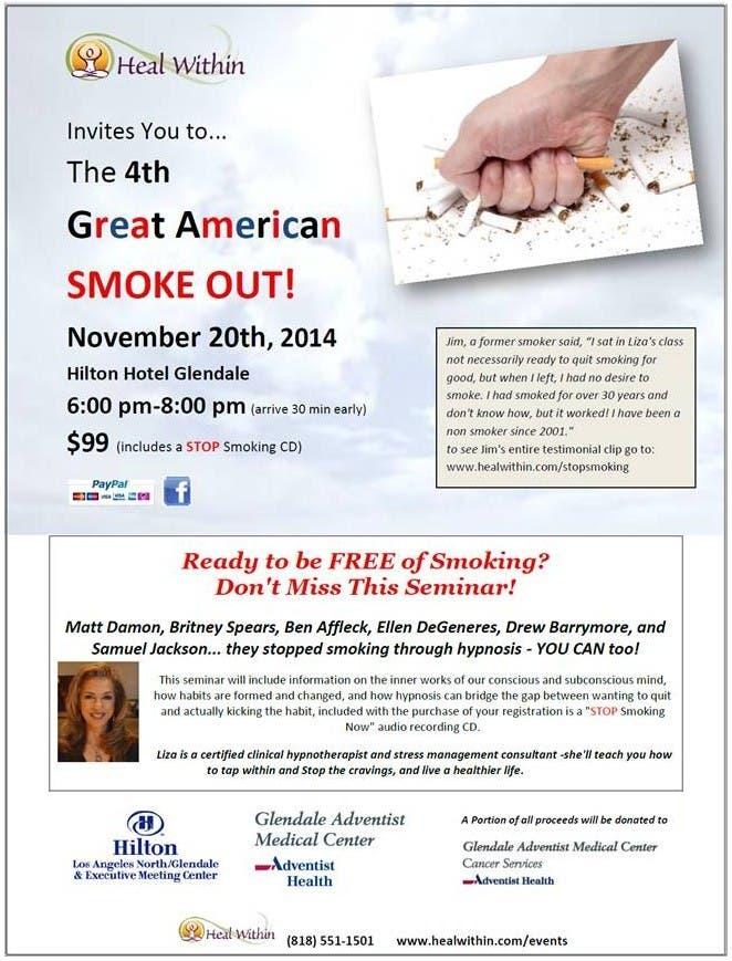 Hypnosis Healing Center to present Smoking cessation Seminar