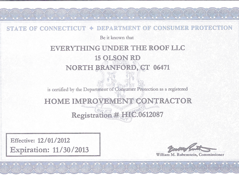 State Of Ct Does Not Require Home Improvement Contractors To Have
