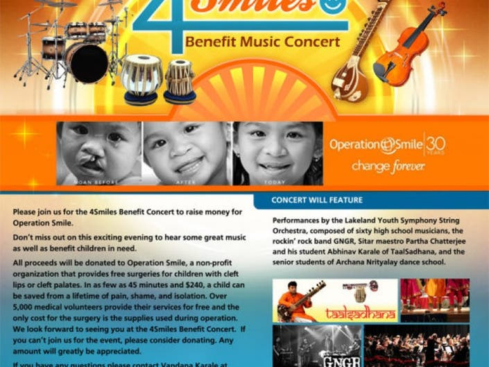 4 SMILES - BENEFIT MUSIC CONCERT | Parsippany, NJ Patch