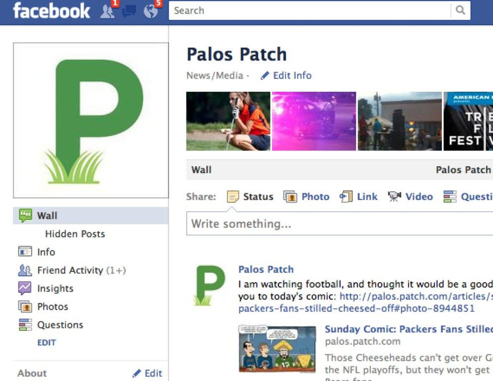 Follow Us: Palos Patch Facebook Page Closes in on 600 | Palos, IL Patch