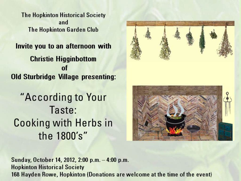 Growing & Cooking With Herbs in the 1800's | Holliston, MA Patch