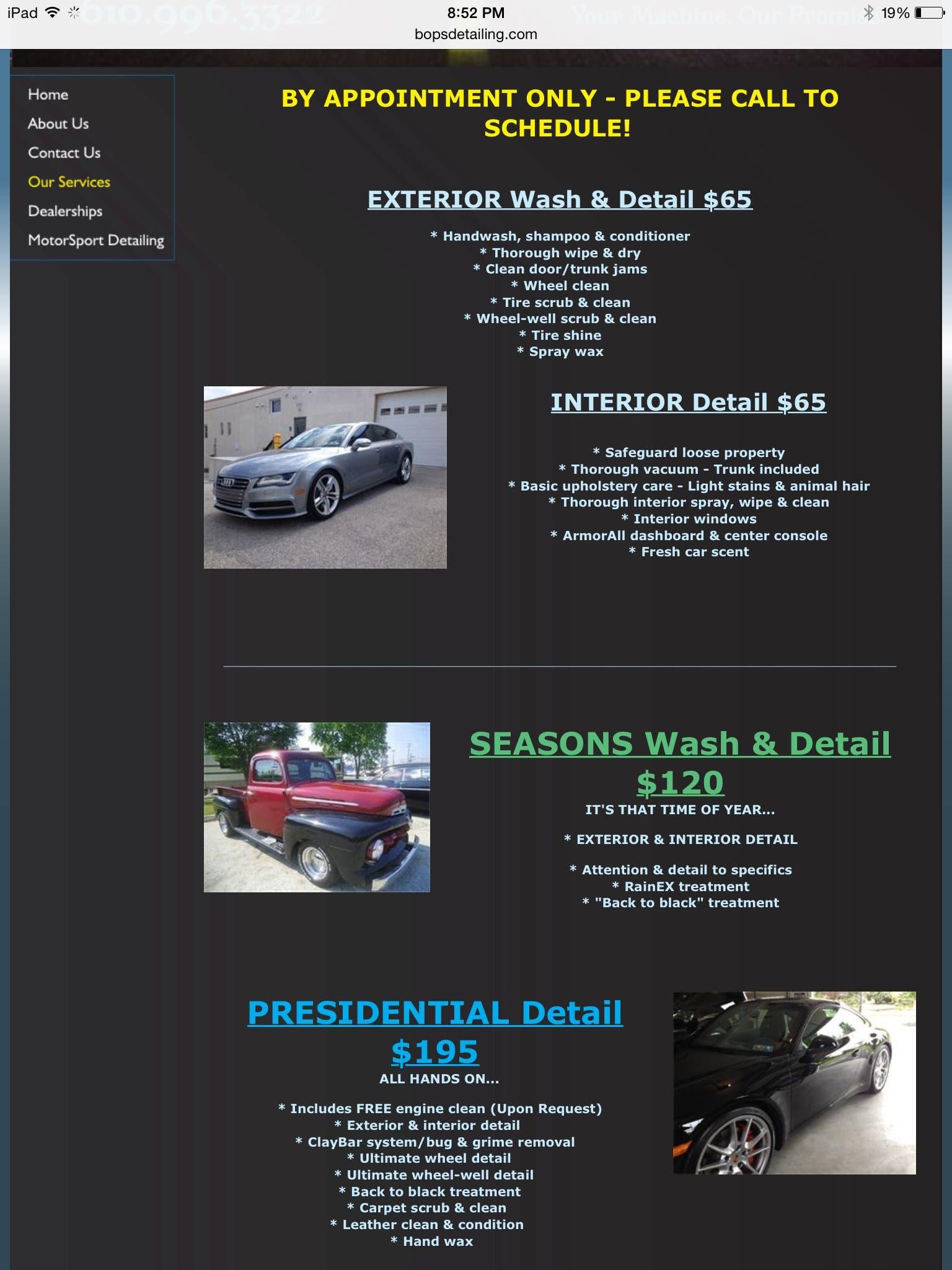 Car detailing deals