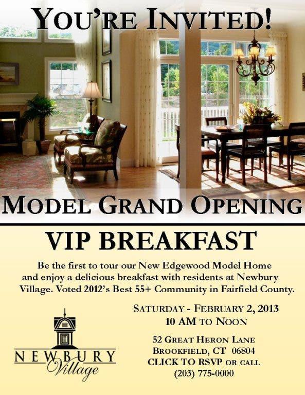 Newbury Village Model Grand Opening Vip