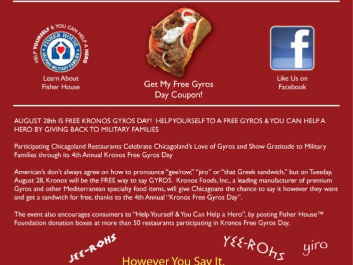 Free Gyros Day | Plainfield, IL Patch
