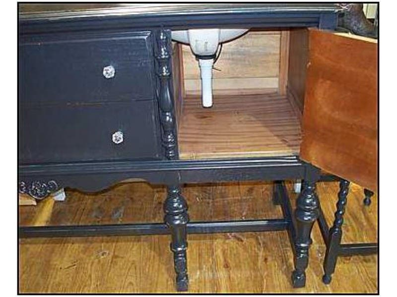 ... Challenges of Using an Antique Bathroom Vanity-0 ... - Challenges Of Using An Antique Bathroom Vanity Troy, MI Patch