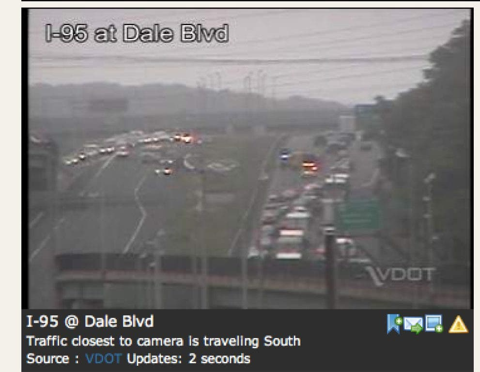 Accidents Snarl I-95 Traffic in Prince William County | Woodbridge