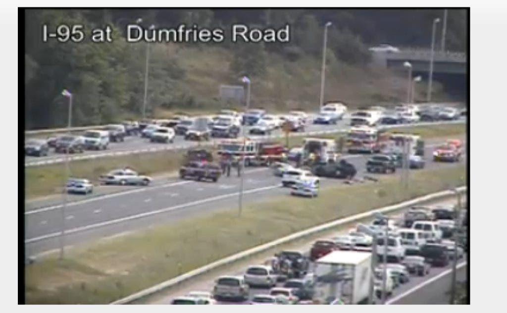 Traffic Alert: Accident On I-95 HOV Lanes Before Dumfries