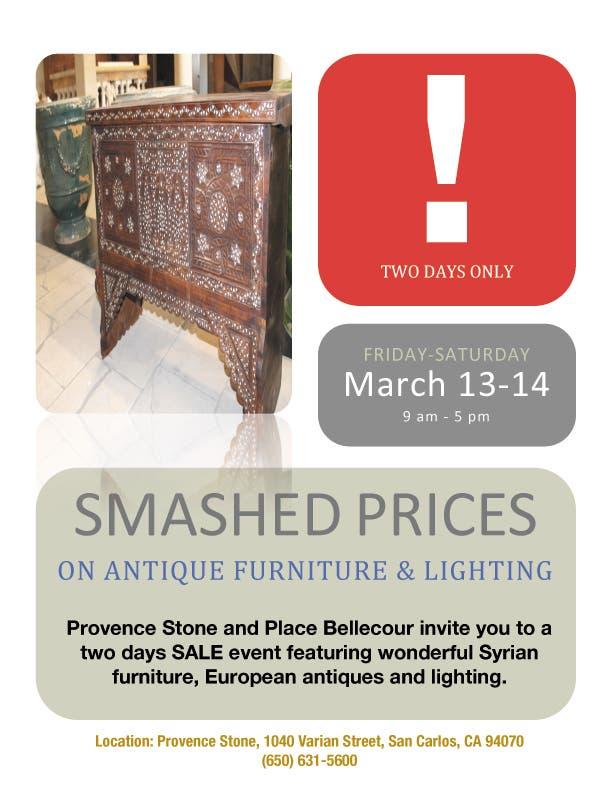 Smashed Prices On Antique Furniture Lighting San Carlos