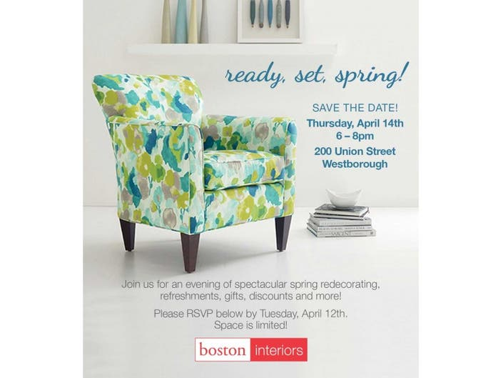 Boston Interiors Design Event Ready Set Spring Westborough