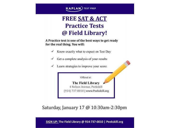 Free SAT & ACT Preparation & Practice Test | Peekskill, NY Patch