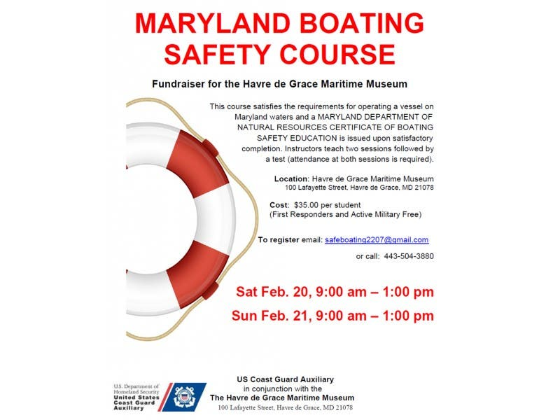 Coast Guard Offers Maryland Boating Safety Course Havre De Grace