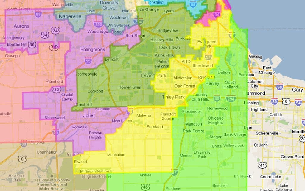 Lemont Moves From 13th To 3rd Congressional District Under New Map - Us-2011-congressional-district-map