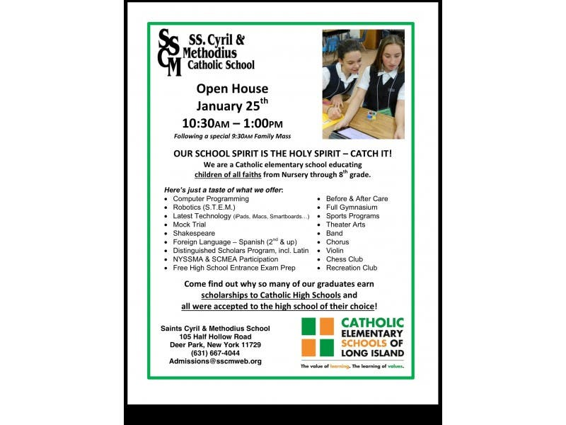 Open House Today at Saints Cyril and Methodius School | Deer
