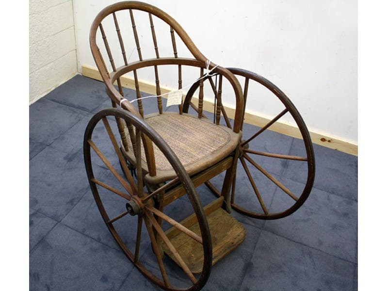 ... Antique of the Week: Historic Wicker Wheelchair-0 ... - Antique Of The Week: Historic Wicker Wheelchair Half Hollow Hills