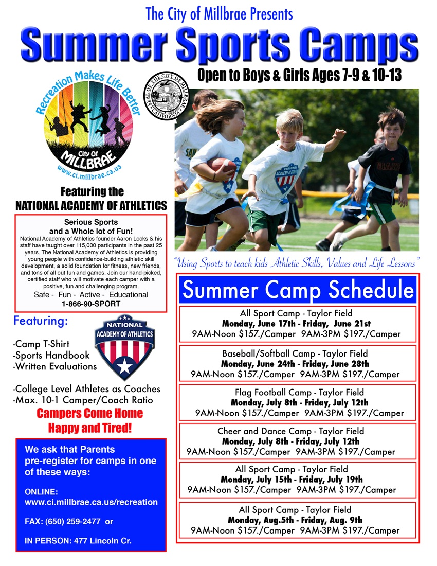 Summer sports camps in Millbrae   Burlingame, CA Patch