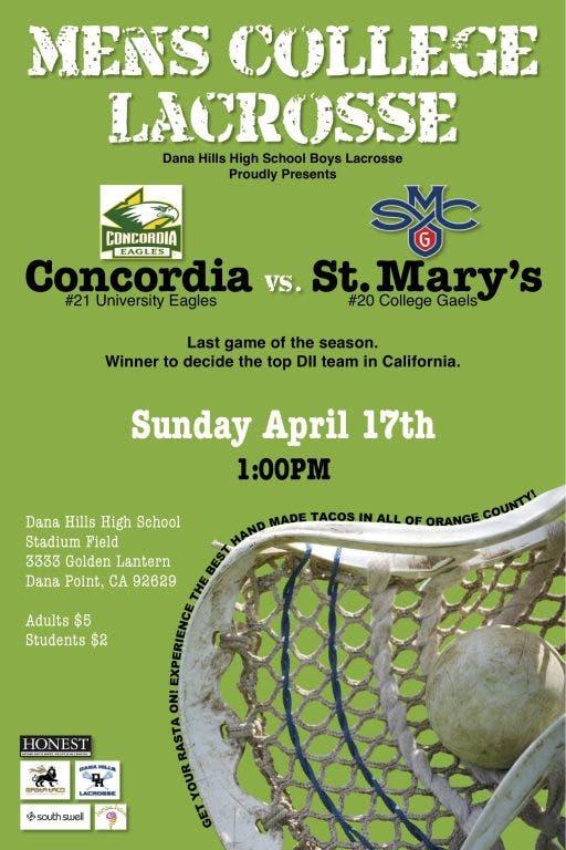 Mens College Lacrosse Event | Laguna Niguel-Dana Point, CA Patch
