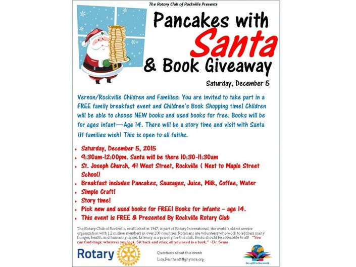 Rotary Host Book Giveaway and Santa Event | Vernon, CT Patch