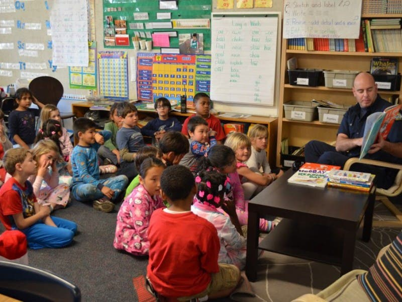 James Burks Firefighters Read To Kids Redondo Beach Ca Patch