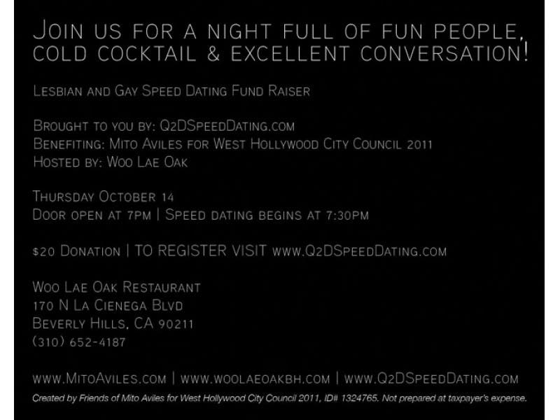 west hollywood speed dating