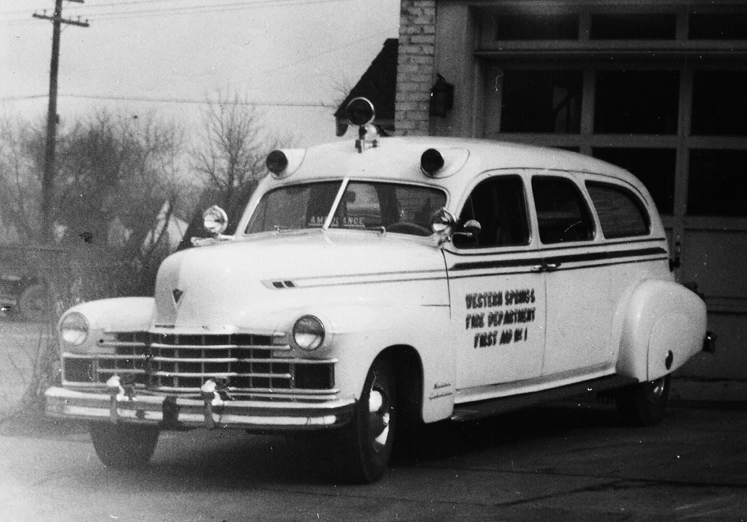 1947 Cadillac Ambulance     a bit of Western Springs History