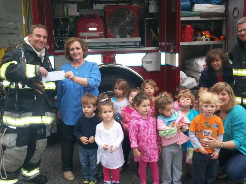 Mt Kisco Fire Department Visits Bet Torah Nursery School