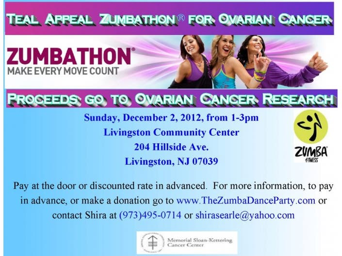 Teal Appeal Zumbathon For Ovarian Cancer | Livingston, NJ Patch