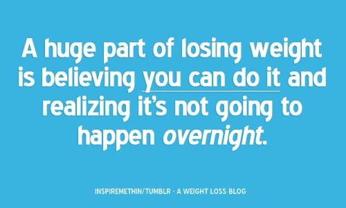 Losing Weight Is Not Easy