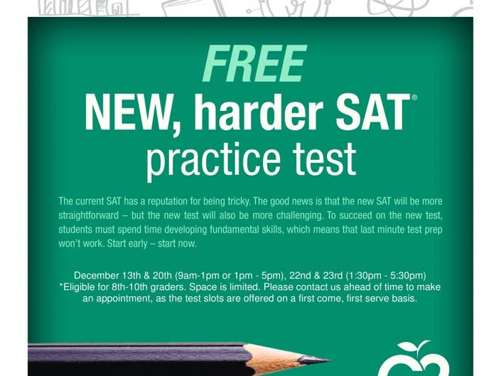 Free New Harder SAT Practice Test Fremont CA Patch