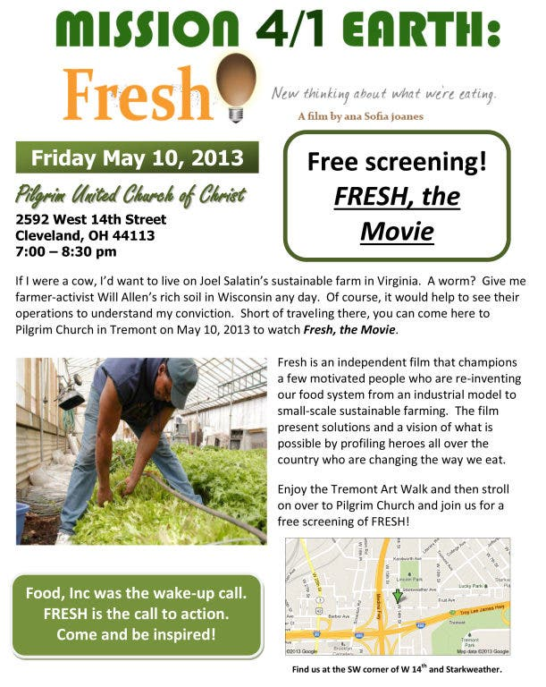 Eating Our Way Through Wisconsin Film_18 >> Free Screening Of Fresh The Movie Lakewood Oh Patch