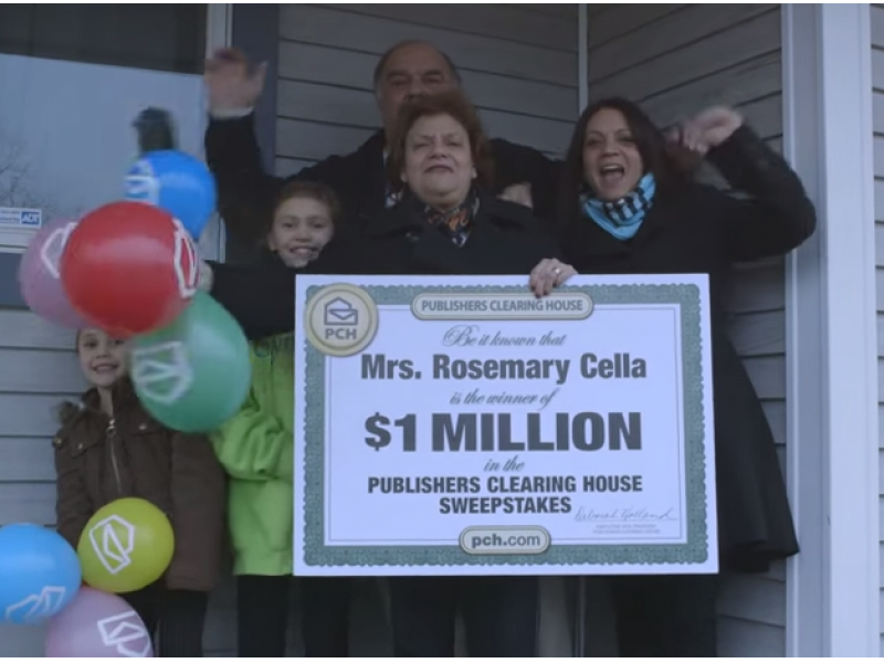 WATCH: Former Patchogue Hairdresser Wins Publishers Clearing House