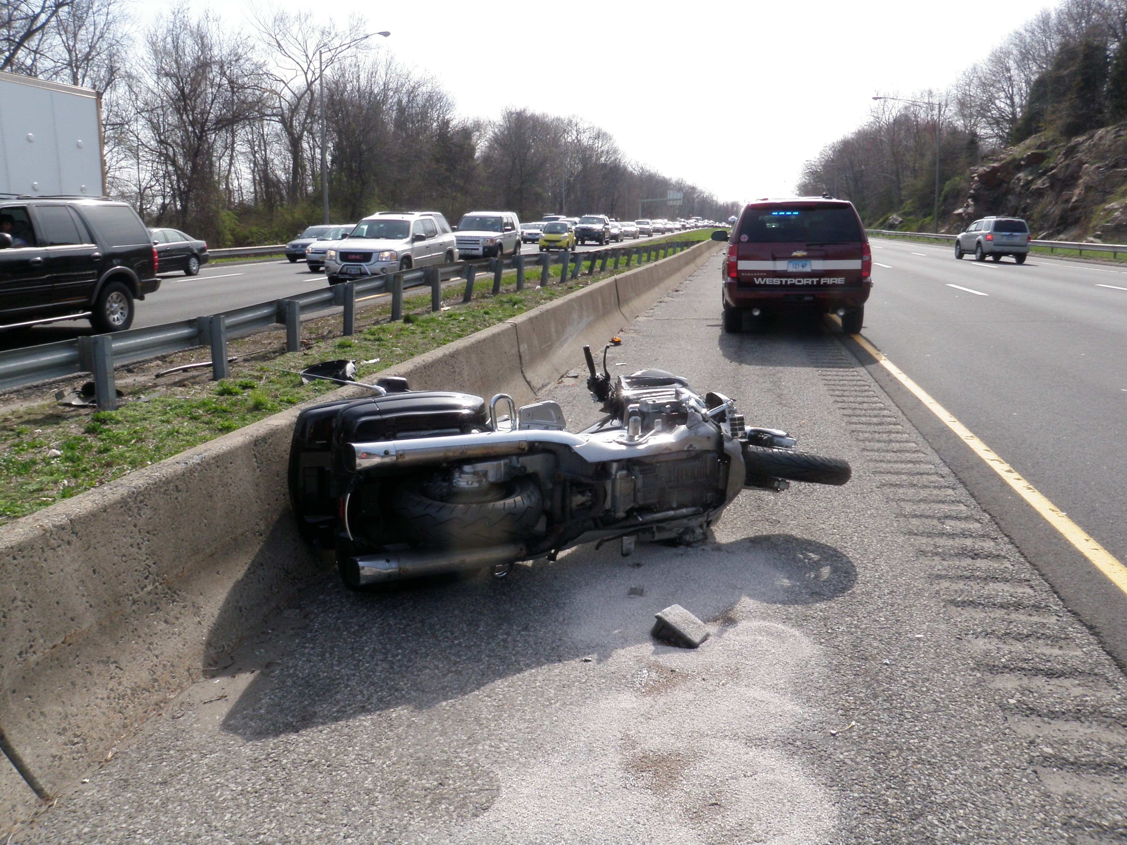 Massachusetts Man Injured in I-95 Motorcycle Accident