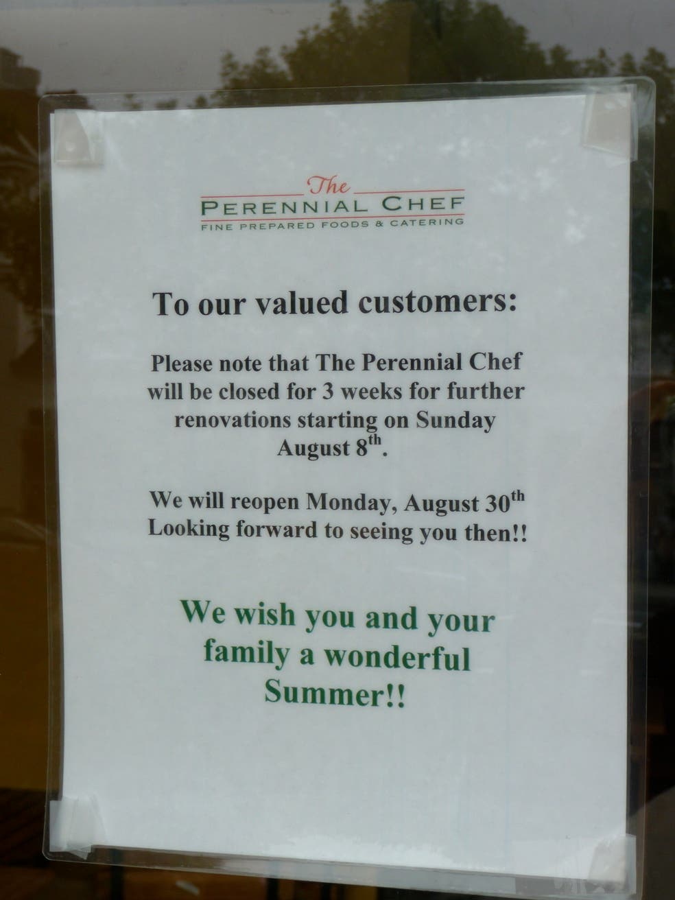 Perennial Chef Reopens With Expanded Offerings | Ridgefield