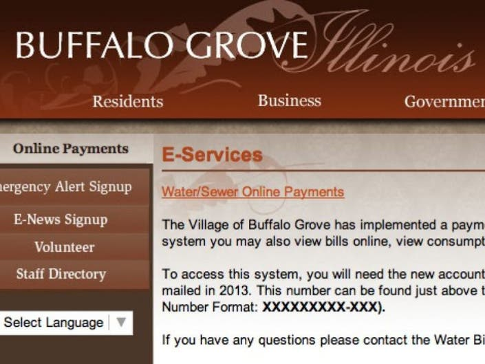 Credit Cards Now Accepted for Water Bill Payments | Buffalo Grove