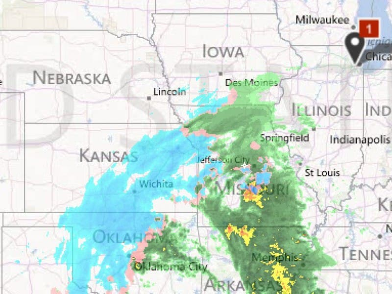Follow The Midwest Snowstorm With Weather Map Radar La Grange Il