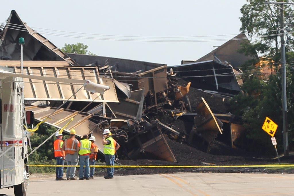 VIDEO: Train Derails, Collapses Bridge Near Glenview