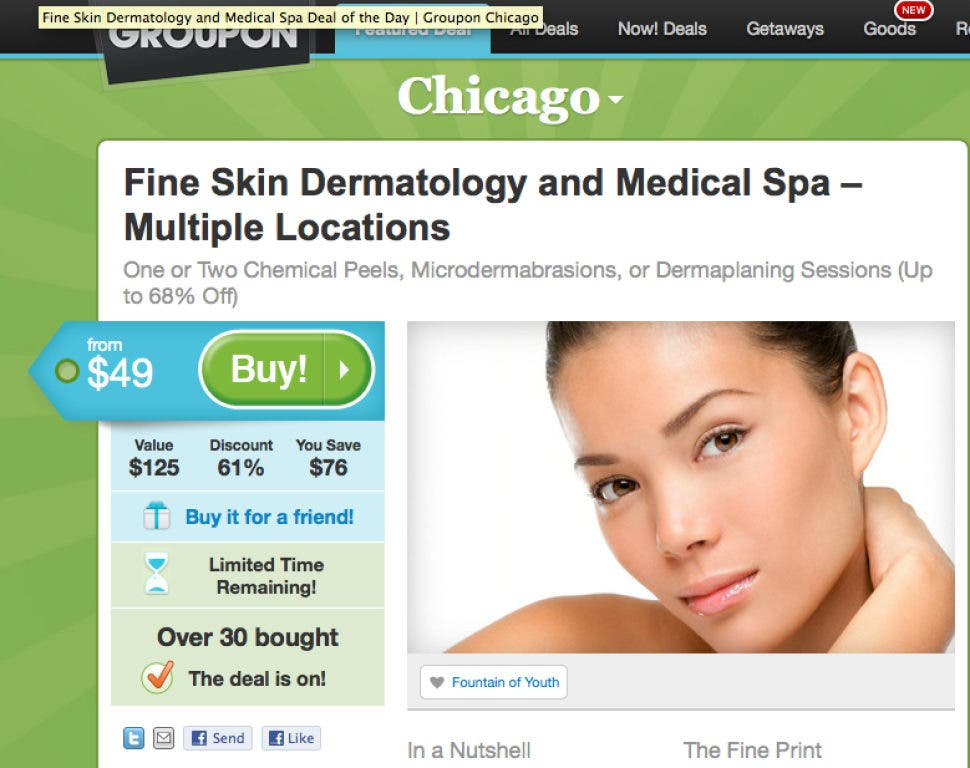 Last Chance to Save 61% on Chemical Peels