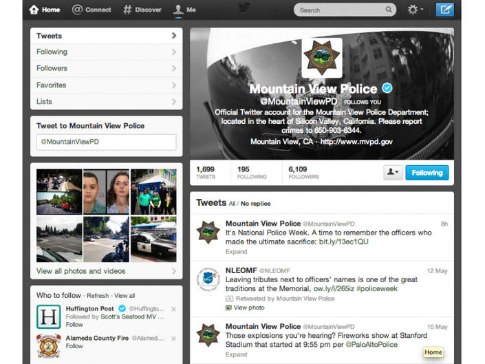 MVPD Ranks No  1 in Twitter Followers | Mountain View, CA Patch